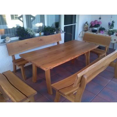 Komplette Sitz- und Tischgarnitur für Terrasse